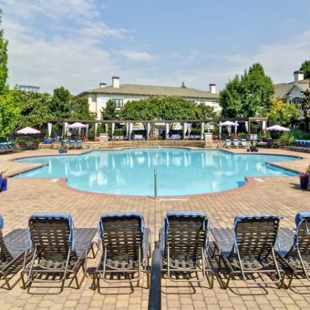 Large Pool surrounded by a sundeck