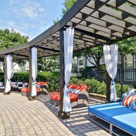 Cabanas by the Pool with comfortable seating