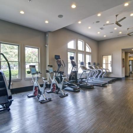 Stair Master and Spin Bikes in the Fitness center