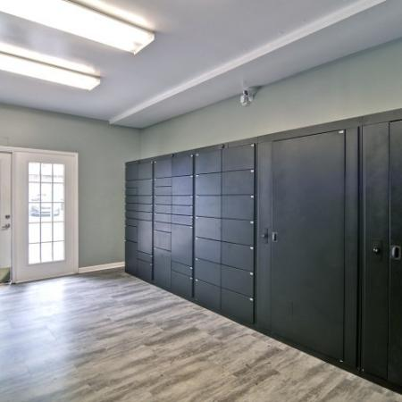 Package lockers for both large and small deliveries