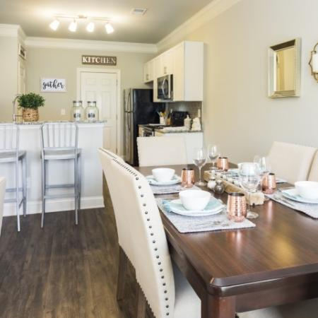 Eat At Bar Area and room for a dining room table