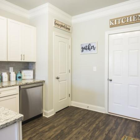 Kitchen with Large Pantry and access to the attached garage