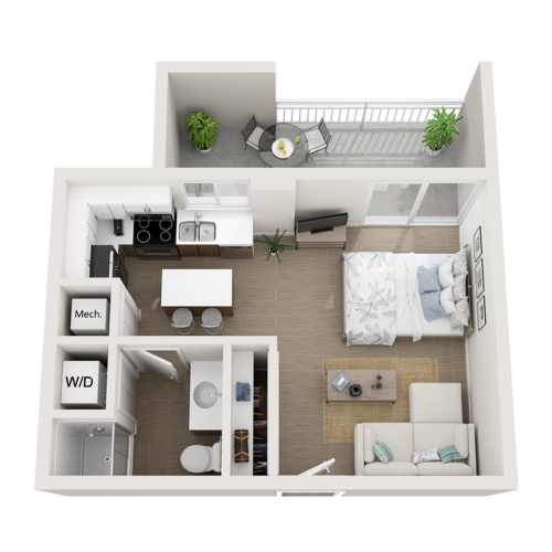 Shala studio 3D floor plan