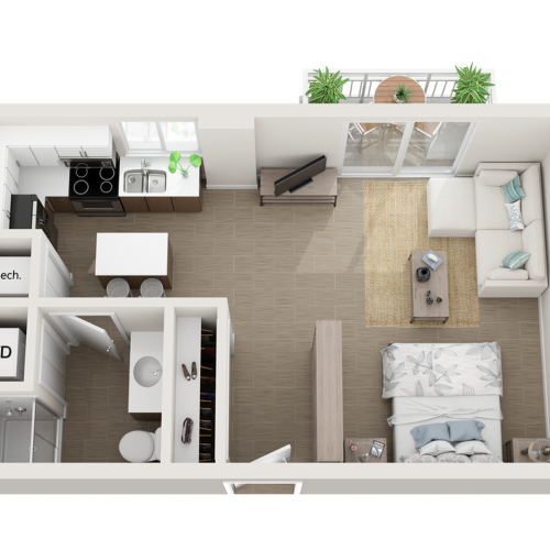 Saroma studio 3D floor plan