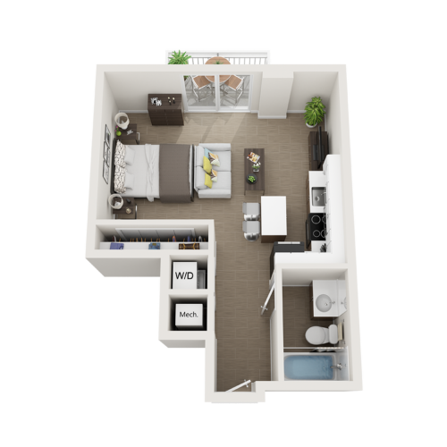 Sagar studio 3D floor plan