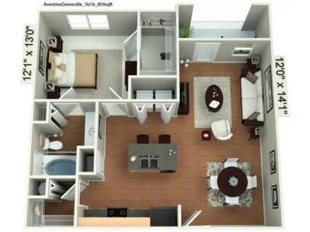 1 bedroom 1 bath renovated apartment