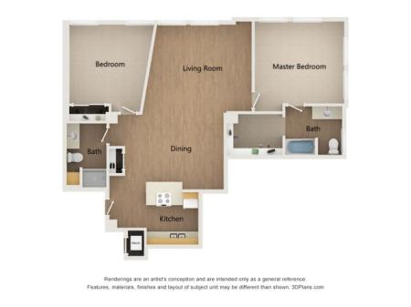 B4 Two Bedroom Layout
