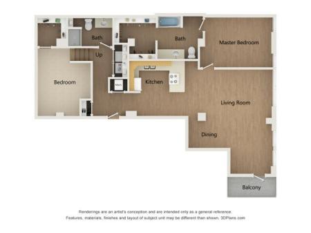Two Bedroom Den