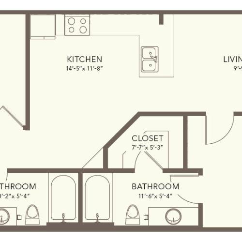 Two Bedroom Two Bath Nashville TN