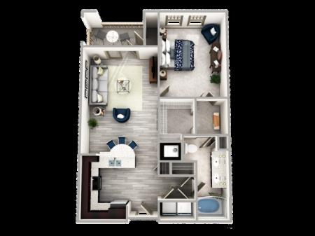 One Bedroom Apartment in Buckhead with Balcony