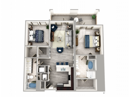 Two Bedroom Apartments in Buckhead