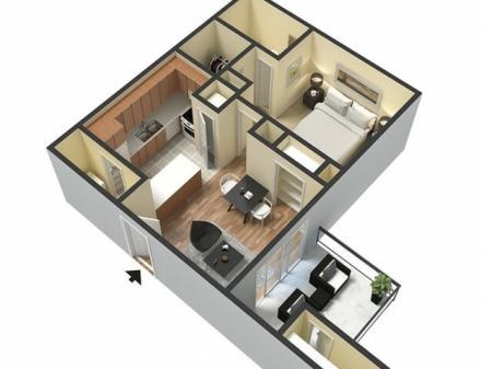 The Reservoir - (520 sq.ft. Studio, One bedroom One Bathroom)