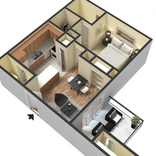 The Reservoir - (520 sq.ft. Studio, One bedroom One Bathroom)