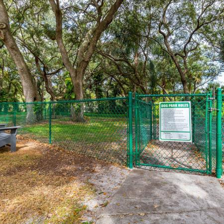 Fenced-in dog park