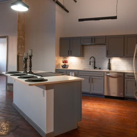 Alternative view of open layout and upgraded kitchen