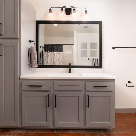 Upgraded finishes and cabinetry in master bathroom