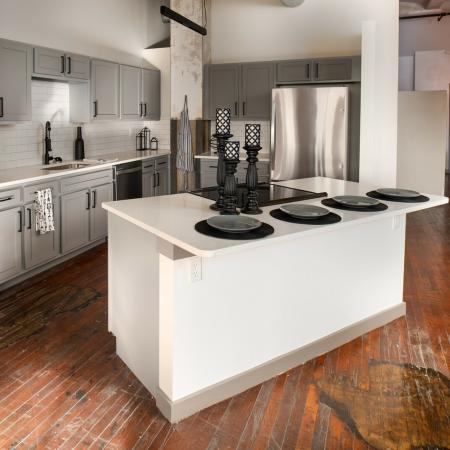 Newly renovated kitchen and hardwood flooring