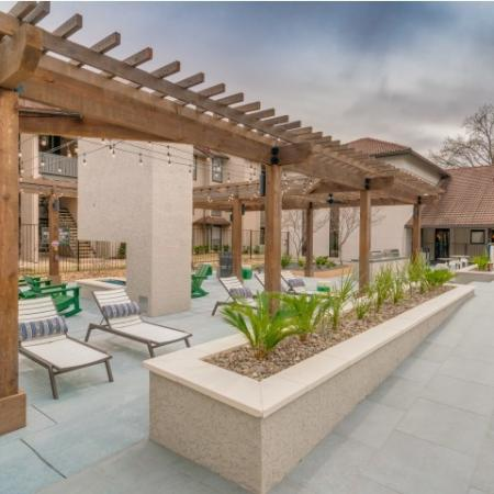 Outdoor Amenity Space with Seating, Fire Pit .