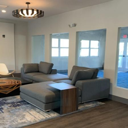 Renovated furnished leasing office
