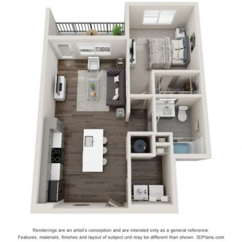 Aurelia - One Bedroom | One Bathroom 731 sq feet