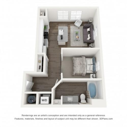 Reserve at Venice | 3D S1 Harper Floor Plan Rendering