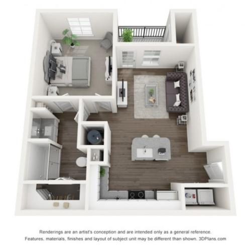 Reserve at Venice | 3D A1 Abigail Floor Plan