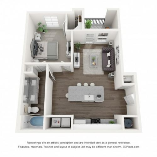 Reserve at Venice | 3D Ava Floor Plan