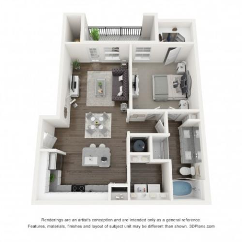 Reserve at Venice | 3D A3 Emma Floor Plan