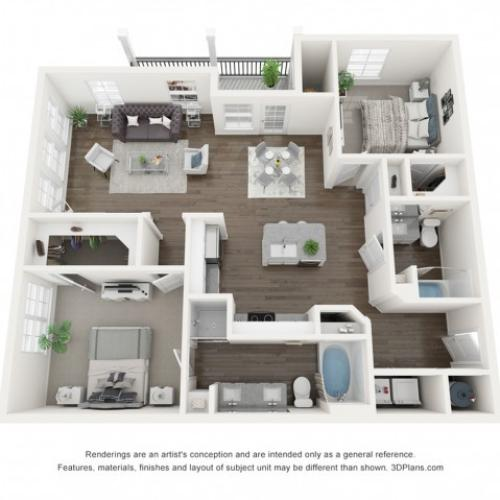 Reserve at Venice | 3D B3 Mia Floor Plan
