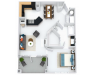 Kensington 1BR/1BA 792 square feet