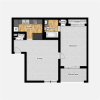 one bedroom with one bathroom