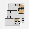 two bedroom with two bathrooms