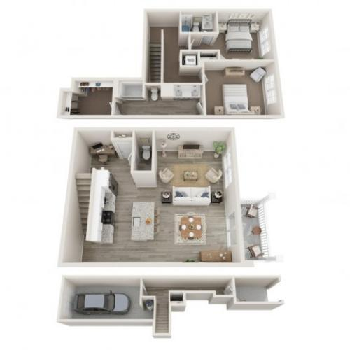 2BR 2.5BA Townhome