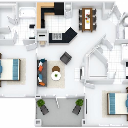 Bristol Floor Plan with Balcony