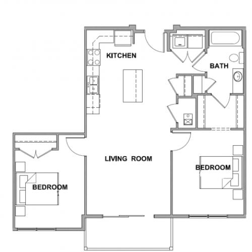 1 Bed / 1 Bath Apartment In Sioux Falls SD