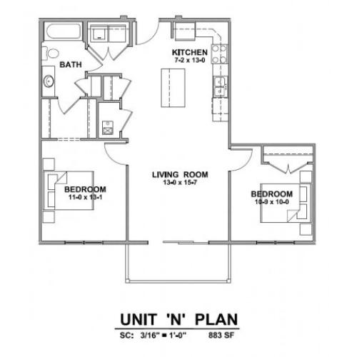 Apartments In Rapid City Sd: 2 Bed / 2 Bath Apartment In Rapid City SD