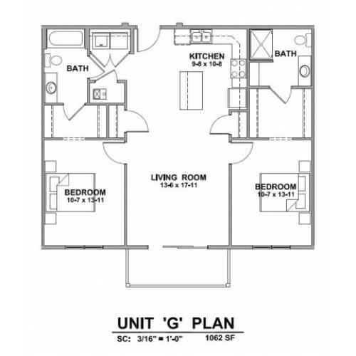 Studio/ 1 Bath Apartment In Rapid City SD