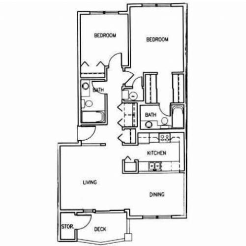 Oak Park Village Apartments: 1 Bed / 1 Bath Apartment In BOISE ID