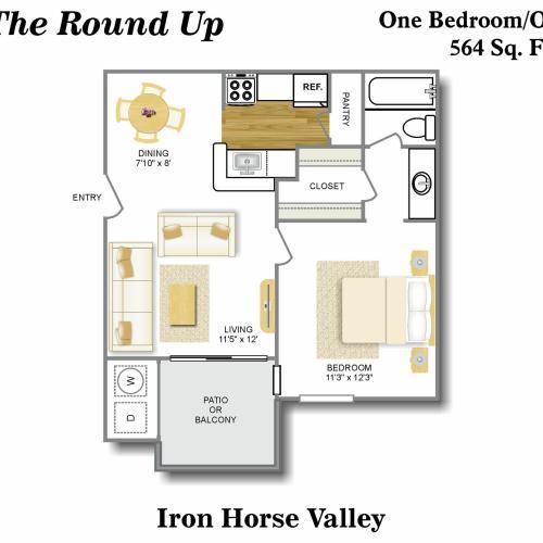 Floor Plan 3 | Apartments North San Antonio | Iron Horse Valley Apartments