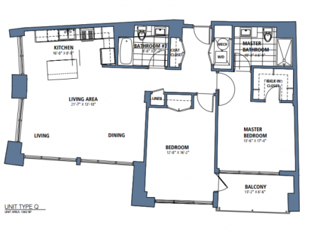 Two Bedroom, Two Bath  (C8)
