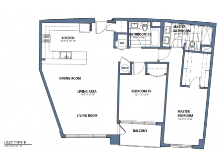 Two Bedroom, Two Bath (C7)