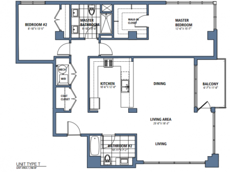 Two Bedroom, Two Bath (C14)