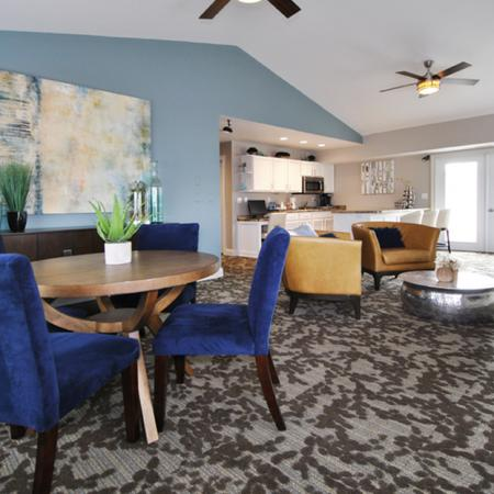 the clubroom at the lakes of holland apartments