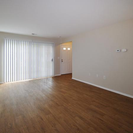 two bedroom apartment with hardwood flooring