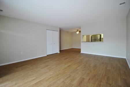 apartment with hardwood flooring