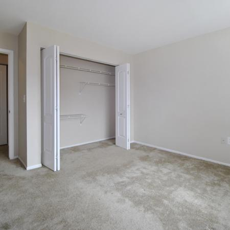 maste bedroom with spacious closets and carpeting
