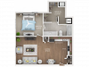 floor plan A1 one bedroom one bath