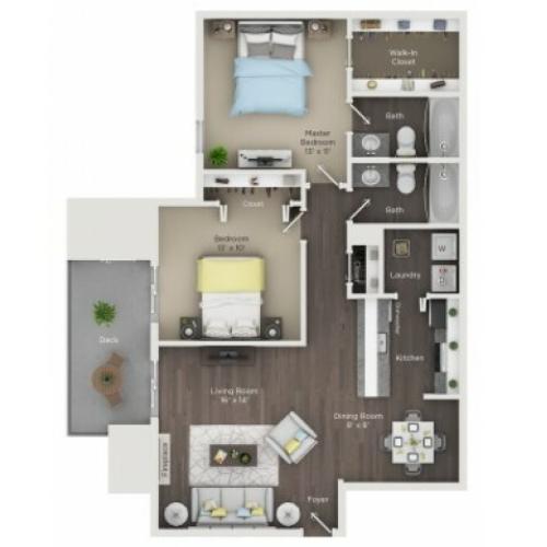2 Bed / 1 Bath Apartment In Columbus OH