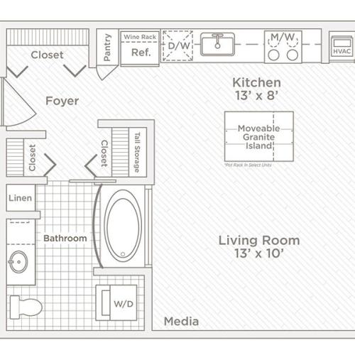 studio S1 floor plan