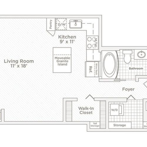 studio S6 floor plan